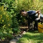 Johan i trädgården